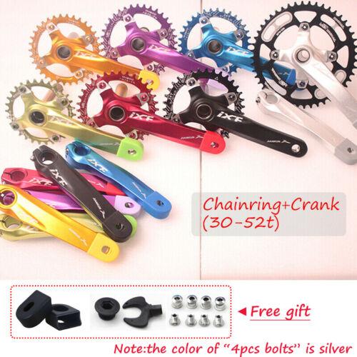 104bcd 30-52t Crankset Crank set Narrow Wide Round Oval MTB Bike Chainring ring