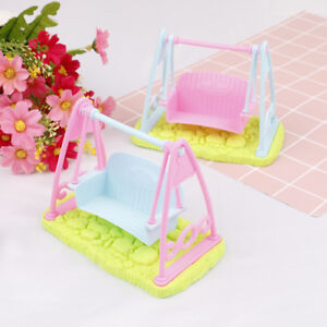 Swing-Set-For-Doll-Girl-Doll-Toy-House-Furniture-Accessories-HV