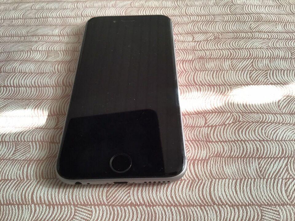 iPhone 6S, 64 GB, sort