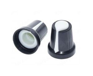 6x MANOPOLA PER POTENZIOMETRO 6mm pressione incastro regolazione indicatore
