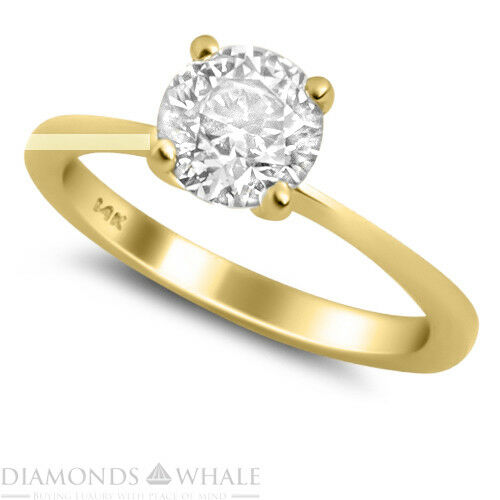 Round Solitaire Enhanced Diamond Ring 0.45 CT SI2 F Yellow gold 14K Engagement