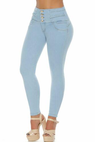VEROX JEANS pantalones colombianos cintura alta Levantacola 3318