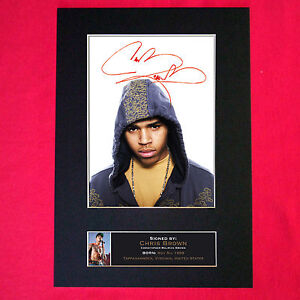 CHRIS BROWN Signed Reproduction Autograph Mounted Photo ...