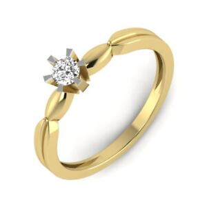 Round-Brilliant-Cut-14k-Yellow-Gold-Solitaire-Diamond-Engagement-Ring