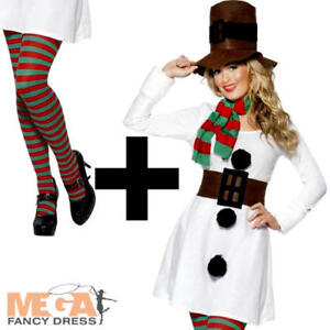 a76d67716aac Image is loading Miss-Snowman-Tights-Ladies-Christmas-Fancy-Dress-Festive-