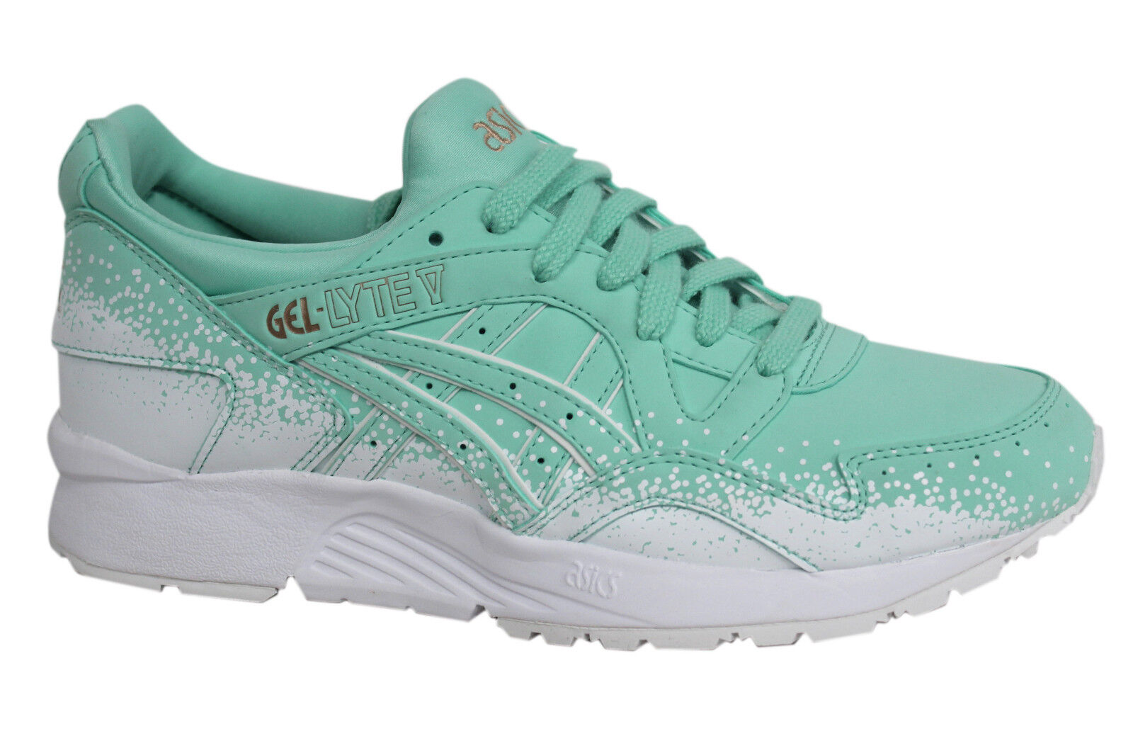 Asics Gel-Lyte V Lace Up White Mint Womens Trainers H6S6Y 7676 D71