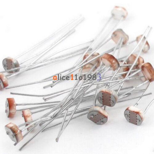 20PCS Photo Light Sensitive Resistor Photoresistor Optoresistor 5mm GL5537