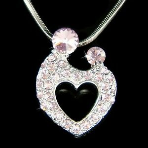 c564eacf7 w Swarovski Crystal ~Purple MOM Mother Love Baby Child Kids Heart ...