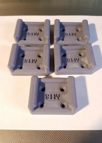 5X M18 Wall Dock Store Milwaukee M18 Battery Holder Mount 5 Pack Puck Style