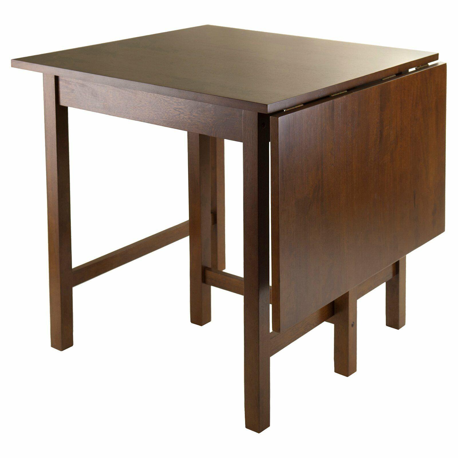 Drop Leaf Dining Table Solid Wood Brown