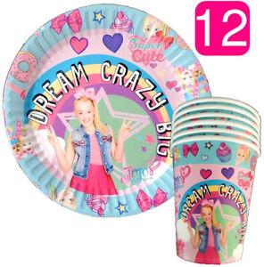 JOJO-SIWA-BOX-CAKE-TOPPER-PLATE-Party-FAVORS-Decoration-cupcake-balloon-supplies