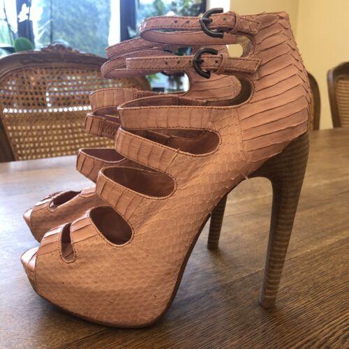 Plateforme Rose Chaussures Serpent Kinoa En Max Leon BaOpqBT