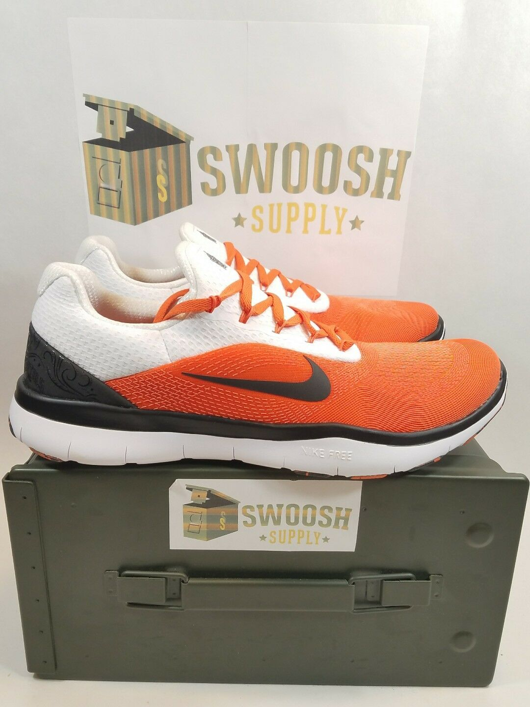 NIKE FREE TRAINER V7 WEEK ZERO Oklahoma State Cowboys AA0881-804 Mens Shoes