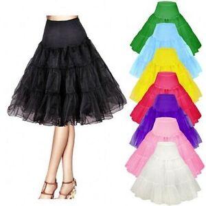 Retro Underskirt/50s Swing Vintage Petticoat/Rockabilly*Tutu/Fancy Net Skirt 26