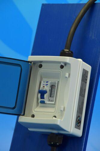 Schuko Rollenzählwerk und FI-Schutzschalter Zwischenzähler Adapter 230V