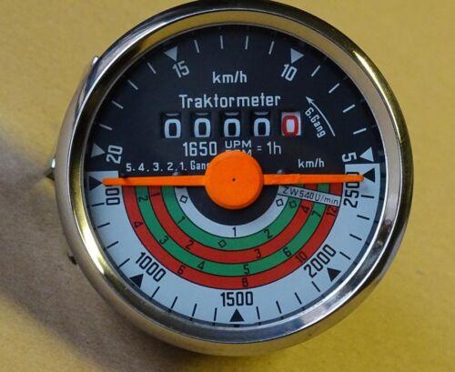Traktormeter Ø 80 mm für Deutz D15 F1L712 Schlepper Traktor Tachoanlage