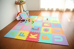 Large Foam Learning Alphabet Puzzle Play Mat Floor Gym Activity Rooms Baby Kid
