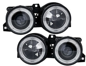 Angel-Eyes-Headlights-set-in-black-with-a-crosshair-for-BMW-3-Series-E30-82-94