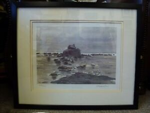 Kyffin-Williams-RA-Framed-limited-edition-signed-print-Eglwys-Cwyfan-Anglesey