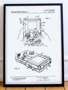 Nintendo-Gameboy-Patent-Poster-Wall-Art-Print-Art