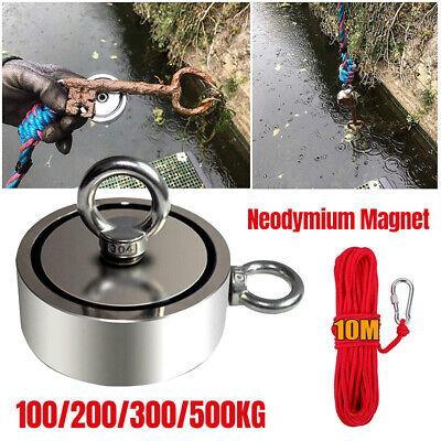 Neodym Bergemagnet Doppel Suchmagnet 100KG bis 500KG Magnetangeln Magnet Fischen