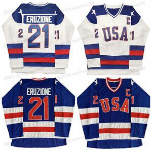 Mike-Eruzione-21-O-039-Callahan-17-USA-1980-Olympic-Games-Men-Hockey-Jersey-Sewn