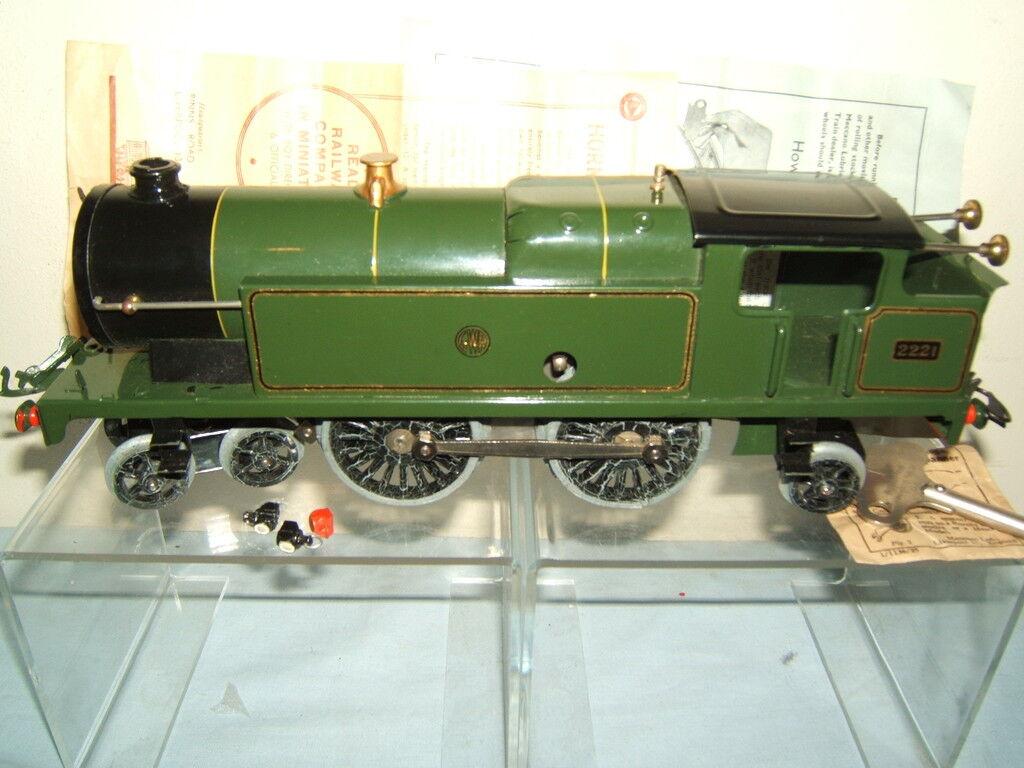 HORNBY O  MODEL No.2  4-4-2T GWR No.2221 SPECIAL TANK   VN MIB