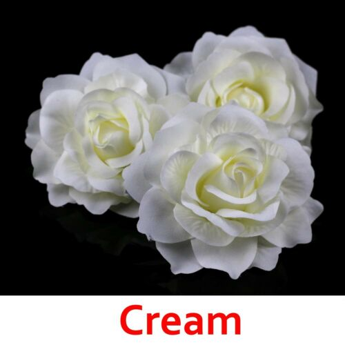 12cm Big Roses Silk Flowers Heads Floral Supplies Craft Bulk Wedding Party Decor
