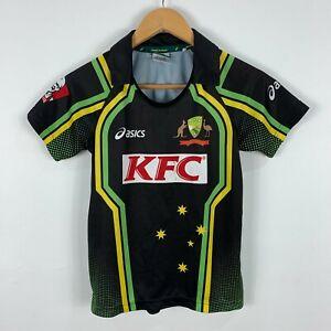 Cricket-Australia-Shirt-Jersey-Youth-10-Short-Sleeve-Collared
