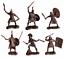 miniature 5 - Jouet Soldats Guerriers Romains plastique caoutchouté 55-75 mm 6pcs