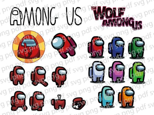 Details about  /Among Us SVG PNG PDF files