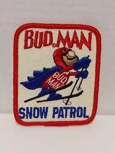 Bud Man Budweiser Beer Snow Patrol Patch Budman Skiing Anheuser Busch Promo