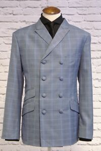 Mod Suit Skinhead Suit Slim Fit 8 Button Double Breasted Suit ...