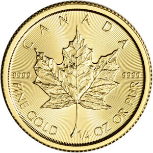 Gold Maple Leaf ~1 Direct Fit 20mm Coin Capsule For British 1//4 oz