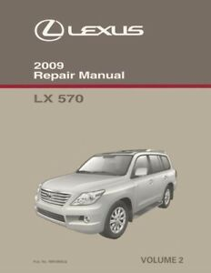 2009 lexus lx 570 shop service repair manual volume 2 only rh ebay com Used 2009 Lexus RX 350 Recalls Lexus RX 350 L