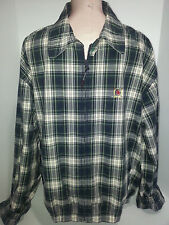 TOMMY HILFIGHER Mens Light Weight Bomber Jacket Coat XL Plaid Blue Green White