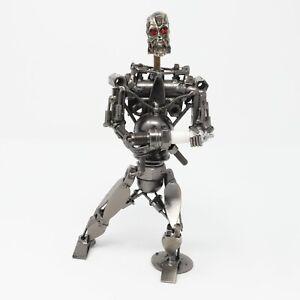 Terminator T2 Industrial Folk Art Metal Scrap Steampunk Nuts Bolts Sculpture