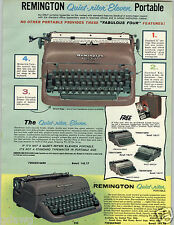1959 PAPER AD Reminton Electric Portable Typewriter Quiet-riter Eleven Letter