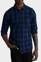 Maddox Lincoln Long Sleeve Check Shirt Navy