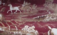 Wallpaper Red Toile Hunt Scene Brown Cream Carey Lind York Ep7106 Double Rolls