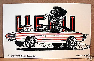 Boss Hemi Dragster Odd Rod Type Weirdo Car Exhibit Card