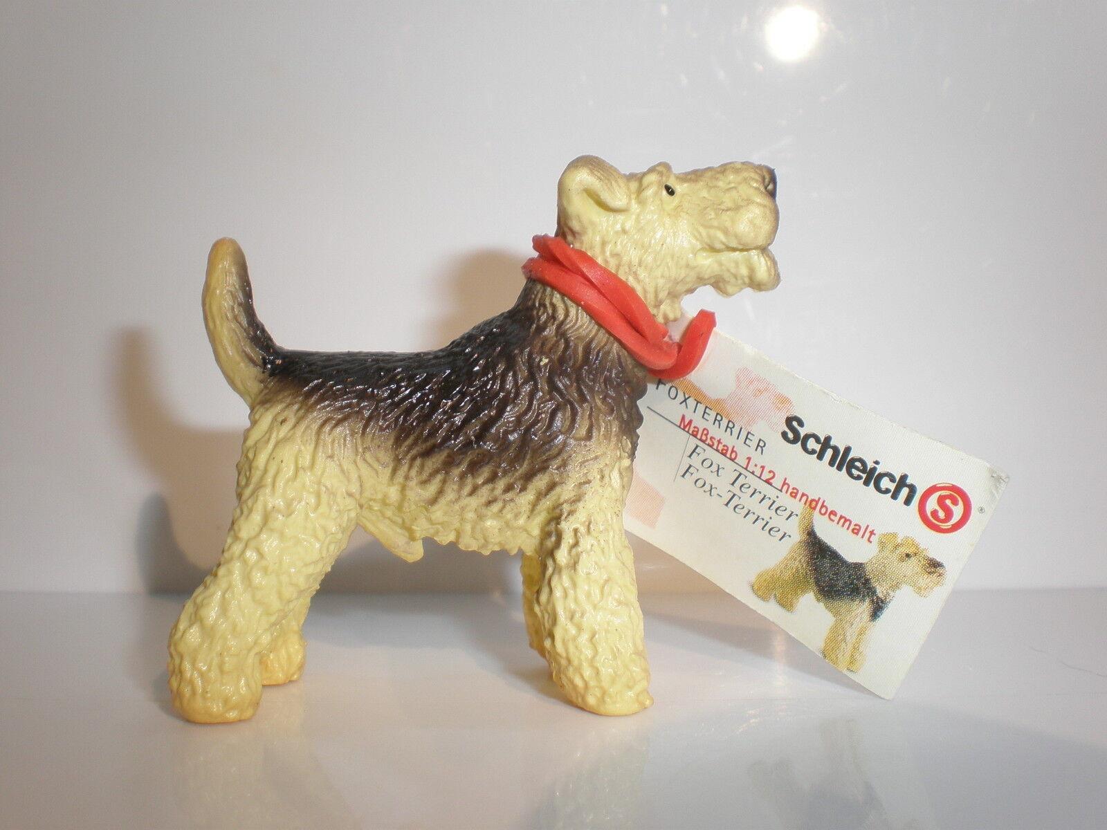 16310  Schleich Dog  Fox Terrier   with booklet  ref 6P4