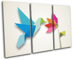 Bird-Kingfisher-Origami-Gift-Illustration-TREBLE-LONA-pared-arte-Foto-impresion