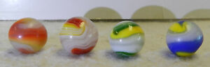 10455m-4-Rough-Akro-Agate-Popeye-Marbles-61-to-67-Inches