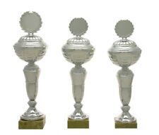 Pokale 3er Serie 517 Silber (H=40-37,5 cm / d= 12,0 cm) inkl.Emblem & Gravur