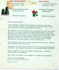 Speisekarte Haus Herrentann Scholl Mönchengladbach Hardt Myhl 1. März 1968