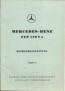MERCEDES-Typ-170-V-a-Betriebsanleitung-1950-Bedienungsanleitung-Handbuch-BA