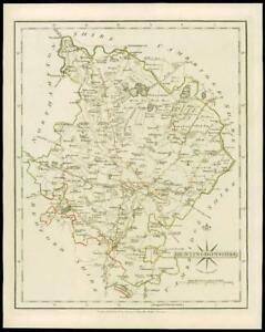Original Outline Colour 1793 Europe Maps Antiques Fine Antique County Map Of Cumberland By John Cary