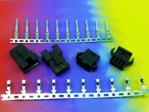 STECKER 4 polig//way Male+Female Connector 10xCRIMPKONTAKTE #A545 Stk.2x BUCHSE