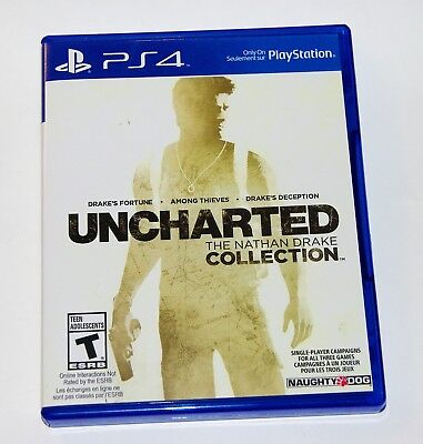 Replacement Case No Game Uncharted The Nathan Drake Collection Playstation Ps4 Ebay